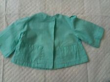 Vintage 1950's Terri Lee Tagged Aqua Cotton Coat