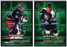 2x PACIFIC CROWN ROYALE 2001 MARC DENIS #8 NHL BRAD RICHARDS #23 ROOKIE LOT