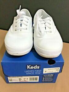 Keds Champion Canvas Sneaker Comfort Shoe Women US 6.5 White Ortholite® WF34000