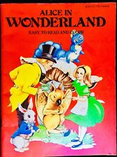 ALICE IN WONDERLAND~ Vintage Children's Story Picture & Coloring Book UNUSED!
