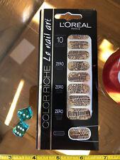 L'Oréal L'Oreal #008 Chic Python Nail Art 18 Stickers 10 Day New Original
