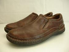 Mens sz 9.5 M Clarks Nature Easy Leather Active Air Mahogany Brown Loafers Shoes