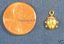 50pc Raw Brass Lucky Lady Bug Insect Charms 4172