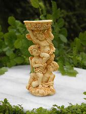 Miniature Dollhouse FAIRY GARDEN Accessories ~ Tan Cherub Angels Bird Bath
