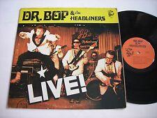 SIGNED Dr. Bop & the Headliners Live! 1976 Stereo LP VG++ GARAGE