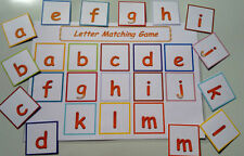 LETTER MATCH GAME - ALPHABET - LOWER CASE- PRE-SCHOOL/EYFS/ FIRST LEARNING