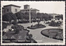 PAVIA VOGHERA 60 CASTELLO Cartolina FOTOGRAFICA viaggiata 1950