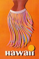 Hawaiian Art Collectible Refrigerator Magnet - Pan Am Hawaii Hula Skirt