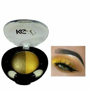 KG DUO HIGHLY PIGMENTED COLOUR EYESHADOW 012 BRONZE/ GOLD & FREE EYELASHES x 1