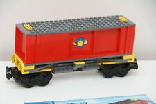 Lego City Cargo Train Red Container Carrier Carriage Cart Split From 7939