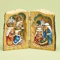 Holy Family and Three Kings Carved Book Christmas Nativity Figurine 30336 New