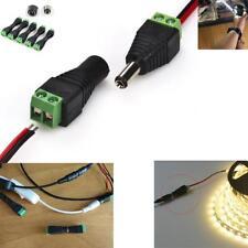 5X DC12V  LED Strip Light Power Supply Plug Adapter Connector for 5050 3528-DE