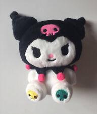 """Kuromi Sanrio Plush Stuffed Animal Skulls On Feet 2009 5 1/2"""" Hello Kitty Goth"""