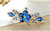 Women Girls Fashion Crystal Hair Clips Flower Barrette Hairpin Pins Accessories