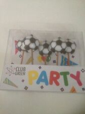 Pack Of 5 2D Football Candle /Birthdays /parties/retro  sweets