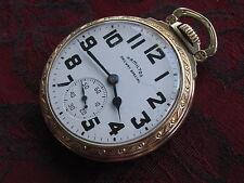 Hamilton 992B 21-jewel 16-size Railroad Pocket Watch, Model 11 Gold Filled Case