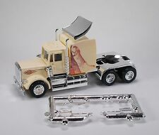 HO 1/87 Promotex # 6254 Peterbilt Tractor, Chrome Chassis Custom Painted Cheetah