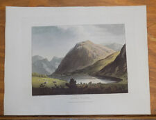 1821 Print, Aquatint Tour of English Lakes///LOWES WATER