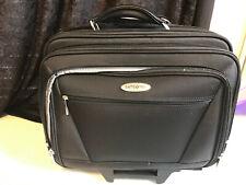 Samsonite Leather Laptop Briefcase Suitcase Shoulder Travel Bag Rolling