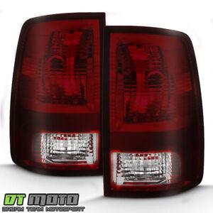 Red Smoke 2009-2018 Dodge Ram 1500 10-18 Ram 2500 3500 Tail Lights Brake Lamps