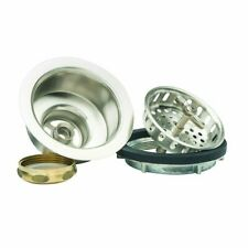 """BrassCraft SS 3-1/2"""" Wing Nut Locking Style Basket Strainer with Nut and Washer"""