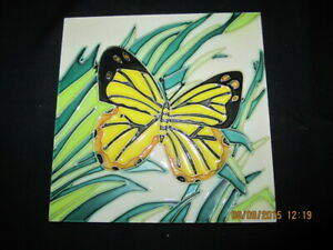 Yellow Butterfly Tile