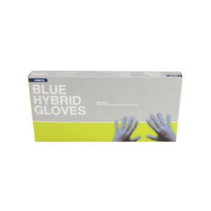 Clearly Blue Hybrid Gloves, TPE Power Free, Latex Free - Pack of 100 | NEW