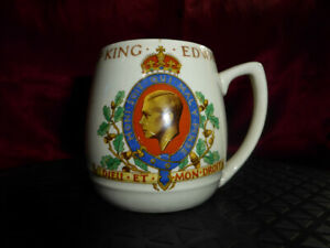 Vintage Coronation CUP King Edward VIII May 12th 1937 Myott, Staffs Royal Ware