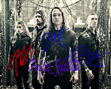 TRIVIUM BAND SIGNED AUTOGRAPHED 10X8 INCH REPRO PHOTO PRINT