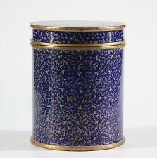 Stunning big late Qing Chinese cloisonne tea box cylinder box 1141