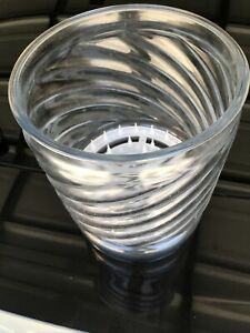 """Clear Glass Footed Flower Bulb Propagation Vase 10"""" X 8"""" Plastic Spikes Insert"""