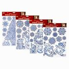 Reusable Snowflake Glittered Christmas Window Stickers Decal Vinyl Decorations