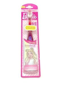 Barbie Brush Buddies Girls Toothbrush Soft Pink Plays Music & Lights Up New