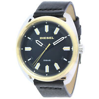 Diesel Men's Fastbak DZ1835 Black Leather Japanese Quartz Fashion Watch