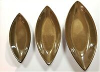 Set of 3 Nested Serving Dishes w/ Mid Century Look Design Home Decor Cat Eye