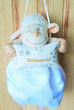 Délicieuse petite demoiselle d'honneur agneau en tissu blanc sac Dolly