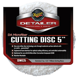 "Meguiars DA Microfiber Cutting Pad 5"" (2 Pcs) DMC5"