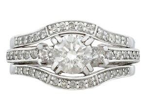 Vintage 1.51ct Diamond and 14k White Gold Dress Ring Circa 1980