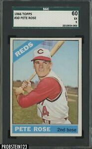 1966 Topps #30 Pete Rose Cincinnati Reds SGC 60 EX 5