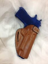 "Premium Leather Belt Holster COLT / KIMBER / RUGER 1911  5"" bbl   - (# 7011 Brn)"
