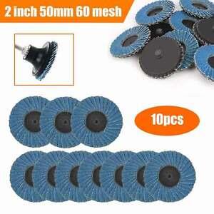 "10pcs R Roloc Disc Wheels 2"" 60 grit Lug Wheel Flap Type Sanding Grinding UK"