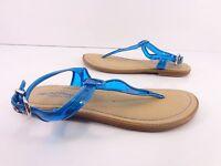Women's Kenneth Cole Slab-Sation T-Strap Sling Back Sandals Blue Size 8.5 M