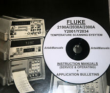 FLUKE 2190A 2030A 2300A Y2034 Y2001 Mulit-Thermocouple Recording System Manuals