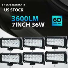 "6X 36W 7""Inch LED Work Light Bar Flood Offroad Driving Fog Lamp Truck ATV SUV"
