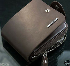 Luxury Men Leather Bifold Wallet ID Credit Card Holder Zip Clutch Billfold Purse