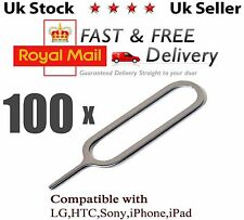 100 x Sim Card Ejector Removal Tool Eject Pin Key For iPhone 4 5 6 Ipad Samsung