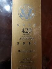 Ballistic Roll United States Legal Tender Coins 425 Net Grams Never Circulated