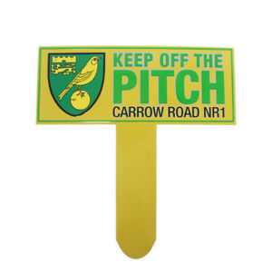 OFFICIAL NORWICH CITY FC KEEP OFF THE PITCH SIGN