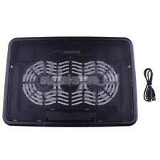 Laptop Cooler Slim Laptop Cooling Pad Chill Mat 2 Quiet Fans USB Powered LED