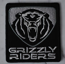 GRIZZLY RIDERS IRON ON PATCH Aufnäher Parche brodé patche toppa ATVs 700 yamaha